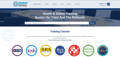 Gaskell Safety ltd Homepage
